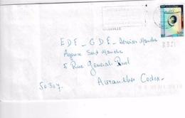 TP 3351 Seul Sur Enveloppe De Granville - Storia Postale