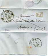 Lettre De Forges (les Eaux) (Seine Inférieure) à Amiens (Somme) 1840 - 1801-1848: Précurseurs XIX