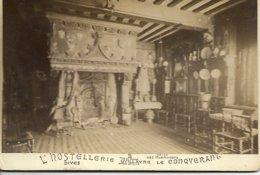 PHOTOGRAPHIE ANCIENNE SUR CARTON  L HOSTELLERIE GUILLAUME LE CONQUERANT DIVES - Oud (voor 1900)