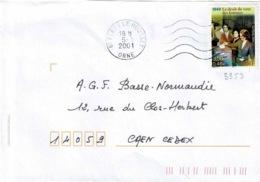 TP 3353 Seul Sur Enveloppe De Flers Le Housset - Storia Postale