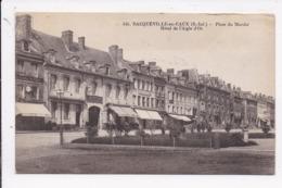 CP 76 BACQUEVILLE EN CAUX Place Du Marché Hotel De L'Aigle D'Or - Sonstige Gemeinden