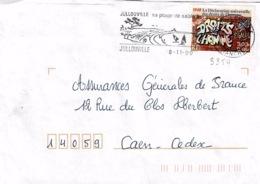 TP 3354 Seul Sur Enveloppe De Jullouville - Storia Postale