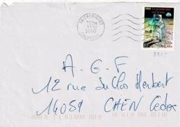 TP 3355 Seul Sur Enveloppe De Carpiquet - Storia Postale