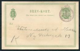 5 øre Illustreret Helsagsbrevkort Annulleret Med Særstempel Velgjørenhedsbazaren I Kjøbenhavn D. 9.4.1901. - Lettere