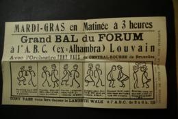Leuven -Publiciteit GRAND BAL DU FORUM - Leuven