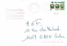 TP 3356 Seul Sur Enveloppe De Rémalard - Storia Postale