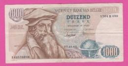 Billet BELGIQUE - 1000 Francs Du 27 10 1965 - Pick 136a - [ 2] 1831-... : Reino De Bélgica