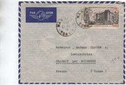 1939 - RARE ENVELOPPE Avec SEUL PA N° 16 TIMBRE SERIE REVOLUTION Avec TàD De HANOI (TONKIN INDOCHINE) Pour CHARMOY - Lettres & Documents
