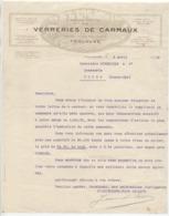 Hte Garonne: Sté VERRERIES DE CARMAUX Allées J. Jaurès à Toulouse, / Courrier De 1928 - 1900 – 1949