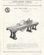 -  03 - MOULINS - Publicités Pour Scies à Ruban MARQCOL, Machines à Bois à MOULINS 03 ( 35 Publicités )  - 007 - Werbung