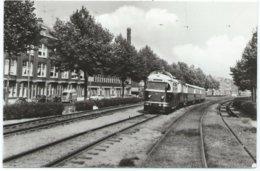 Rotterdam Tram Putselaan Naar/to Hellevoetsluis RTM Tramway Strassenbahn Trolley Dieseltram 1960's - Rotterdam