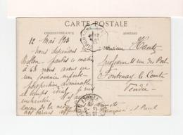 Sur CPA Du Ballon D'Alsace Cachet Ambulant Giromagny à Belfort 1913. CAD Fontenay Le Comte Vendée. (3405) - Posta Ferroviaria