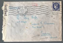 France N°375A Sur Lettre De Paris Pour Tournai - Censure Allemande 1941 - (B2486) - Guerre De 1939-45
