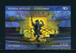 ALAND  -  2006 Nordic Mythology Miniature Sheet Used As Scan - Aland