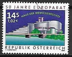 AUTRICHE   -  1999  .  Y&T N° 2110 Oblitéré.   Palais Des Droits De L' Homme  /  Conseil De L' Europe. - 1991-00 Used
