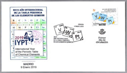 2019 AÑO INT. TABLA PERIODICA ELEMENTOS QUIMICOS - INT. YEAR PERIODIC TABLE OF CHEMICAL ELEMENTS. SPD/FDC Madrid 2019 - Química