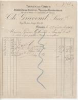 Dx Sèvres: Ch. Gravouil, R. Victor Hugo à Niort, Fabrique Blouses, Toiles & Bonneterie /Lettre De 1922 - Frankrijk