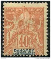 Dahomey (1901) N 12 * (charniere) - Unused Stamps