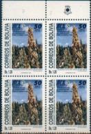 """Bolivia 1992 CEFIBOL 1440a Bl.4,  Ecología Y Conservación. Quinua Sajama. IICA. Variedad """"Aldus PrePrinter"""" - Bolivia"""