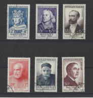 FRANCE.  YT N° 989/994  Obl  1954 - Usados
