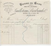 Dx Sèvres: Guilleteau, R. De La Gare à Niort, Fabrique Blouses, Chemise & Salopette/Lettre De 1922 - Francia