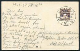1937 Denmark Copenhagen Philatelic Club Jubilee Postcard. KPK Jubilæumudstilling - Covers & Documents