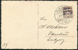 1937 Denmark Copenhagen Postcard. Philatelic Club Jubilee KPK Jubilæumudstilling - Covers & Documents