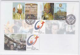 Isle Of Man 2005 FDC World Youth Day Pope John Paul II - Pope Benedict XVI Souvenir Sheet (NB**LAR8-58) - Papas
