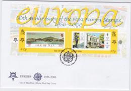 Isle Of Man 2006 FDC Europa CEPT Souvenir Sheet (NB**LAR8-58) - 2006