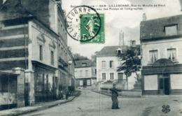 Lillebonne Rue Du Moulin De Haut Et Ancien Bureau Des Postes 1916 - Lillebonne