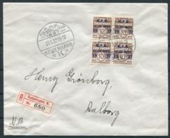 1937 Denmark Registered Copenhagen Philatelic Club Jubilee KPK Jubilæumudstilling Cover - 1913-47 (Christian X)