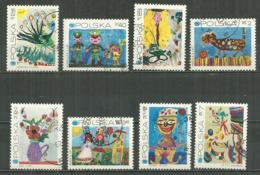 POLAND Oblitéré 1926-1933 Anniversaire De La Fondation De L'unicef Dessins D'enfants La Paon Chat Balle Fleur Fleurs - 1944-.... Republic