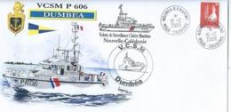 17346 - GENDARMERIE MARITIME - VCSM DUMBEA - NELLE CALEDONIE  - EV ILLUSTRÉE - TP NOUMÉA MARINE 1 - Postmark Collection (Covers)