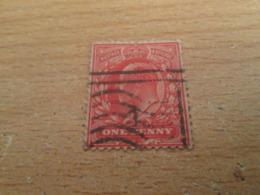 PUB1119 Timbre ANGLETERRE (cadeau Publicitaire Années 60) ONE PENNY ROUGE POSTAGE & REVENUE Début 20e Siècle - 1902-1951 (Kings)