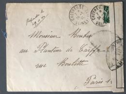 France N°432 Sur Lettre De Chevreuse Pour Paris - Censure UA 4 - (B2495) - Guerre De 1939-45