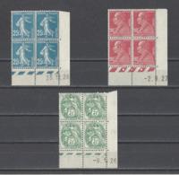 FRANCE.  YT Coins Datés N°140-243-11  Neuf **/*  1926-27 - Coins Datés
