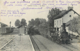 CPA 45 Loiret Lorris La Gare Train Locomotive Intérieur - France