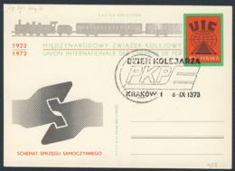 Poland Polska Polen 1973 Karte Card – UIC - Union Int. Chemin De Fer - 1922-1972 - / Int. Union Of Railways - Treinen