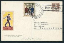 1938 Denmark Copenhagen Landbrugsudstillingen Paa Bellahej Exhibition Postcard. - Covers & Documents