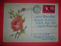 SSSR,Russia,stamped Stationery,letter,postal Cover,rose,international Mail,USSR - 1923-1991 USSR
