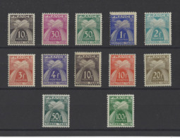 FRANCE.  YT Timbres Taxe  N°78/89  Neuf **/*  1946 - 1859-1955 Mint/hinged