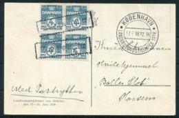 1938 Denmark Copenhagen Landbrugsudstillingen Paa Bellahej Postcard. First Day Of Exhibition - Covers & Documents