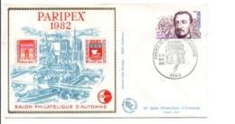 BLOC CNEP PARIPEX SUR LETTRE 1982 - CNEP