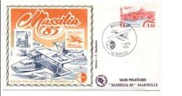 BLOC CNEP MASSILIA85 SUR LETTRE 1985 - CNEP