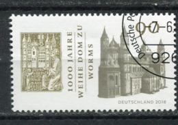 """Germany 2018 Michel .Nr.3394 Bogenmarke """"1000 Jahre Domweihe Zu Worms """"1 Wert Used - Kirchen U. Kathedralen"""