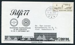 1977 Greenland Silfa '77 Silkeborg Denmark Philatelic Club Cover. Thule Slania Dog Sled - Brieven En Documenten