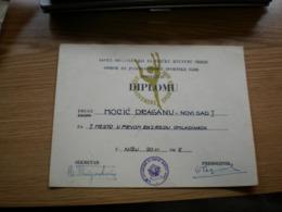 Ballet Diploma Odbor Za Jugoslovenske Sportske Igre 1965 - Diplomas Y Calificaciones Escolares