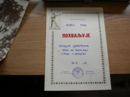 Partizan Pohvaljuje - Diplomas Y Calificaciones Escolares