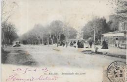 13, Bouches Du Rhone, ARLES, Promenade Des Lices, Scan Recto Verso - Arles