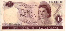 New Zealand  P.163b 1 Dollar  1967 A-unc - Nieuw-Zeeland